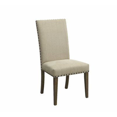 Voorhies Transitional Wooden Upholstered Dining Chair