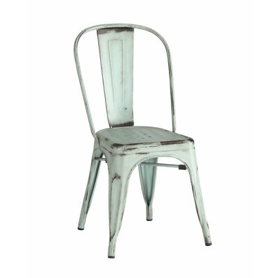 Emmert Metallic Chic Dining Chair Color: Blue