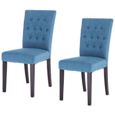 Kimmons Upholstered Dining Chair Upholstery Color: Blue