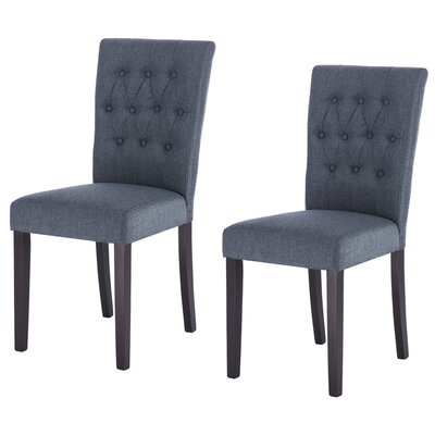Kimmons Upholstered Dining Chair Upholstery Color: Light Navy