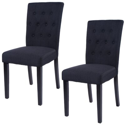 Kimmons Upholstered Dining Chair Upholstery Color: Black