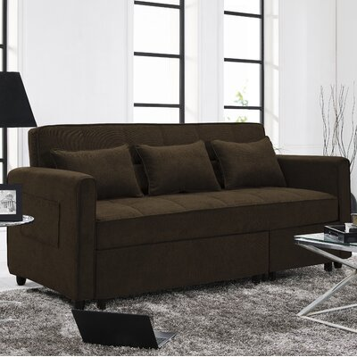 Carreiro Sleeper Sofa Upholstery: Brown