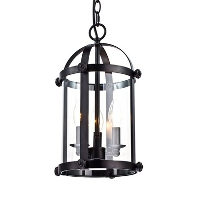 Kinde Clear Cage 3-Light Foyer Pendant