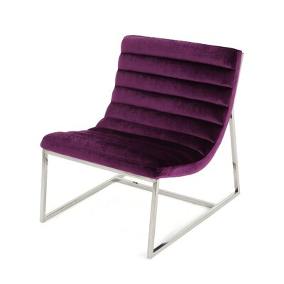 Lounge Chair Upholstery: Eggplant