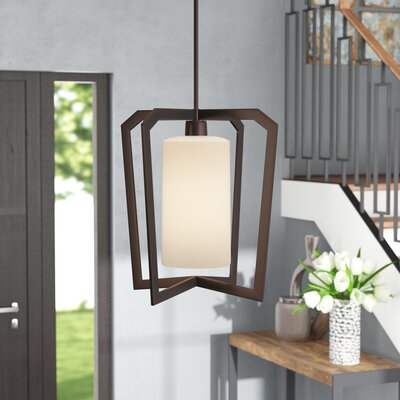 Luzerne 1-Light Foyer Pendant Finish: Dark Bronze