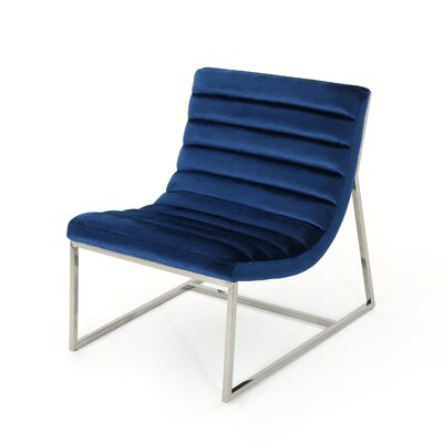 Lounge Chair Upholstery: Navy Blue