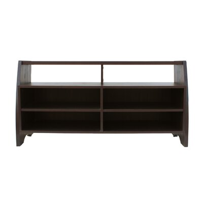 Farmhouse Rustic 48 TV Stand Color: Dark Walnut