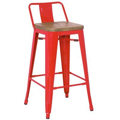 Ellery 30 Bar Stool Finish: Red