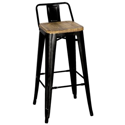 Ellery 30 Bar Stool Finish: Black
