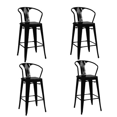 Ellery 26 Bar Stool Finish: Black