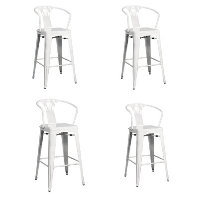 Ellery 26 Bar Stool Finish: White