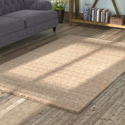 Supriya Hand-Woven Natural Area Rug Rug Size: Rectangle 36 x 56
