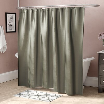 Highgate Faux Silk Shower Curtain Color: Sage