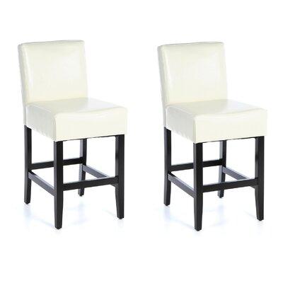 Deirdre 26 Bar Stool Upholstery: Ivory