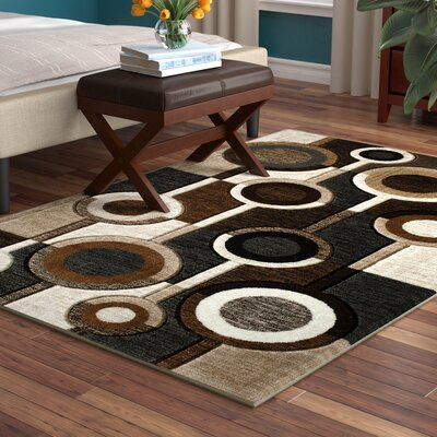 Tammi Hand Carved Brown/Gray/Black Area Rug Rug Size: 5' x 7'3