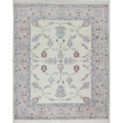 One-of-a-Kind Grimaud Indo Oushak Hand-Woven Wool Ivory Area Rug