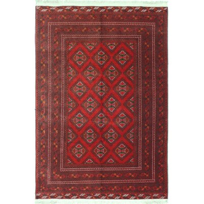 One-of-a-Kind Berne Hand-Woven Wool Red Area Rug