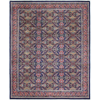 One-of-a-Kind Mellinger Indo Bijar Hand-Woven Wool Navy Area Rug