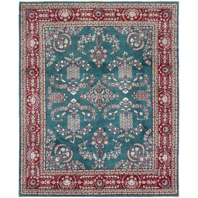 One-of-a-Kind Bulmershe Mohajeran Hand-Woven Wool Green Area Rug