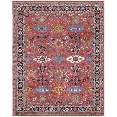 One-of-a-Kind Adalaide Indo Mahal Hand-Woven Wool Red Area Rug