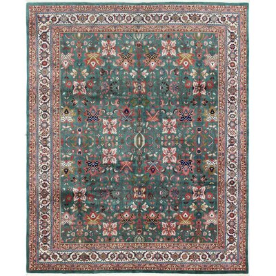 One-of-a-Kind Mellor Bijar Hand-Woven Wool Green Area Rug