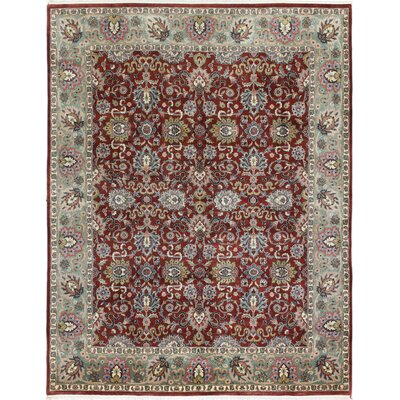 One-of-a-Kind Duffner Kashan Hand-Woven Wool Rust Area Rug