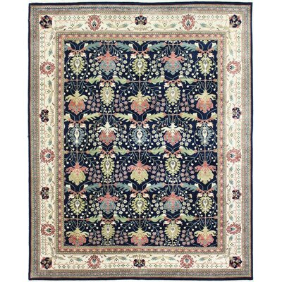 One-of-a-Kind Echelon Oushak Hand-Woven Wool Navy Area Rug