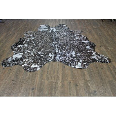 One-of-a-Kind Parada Hand-Woven Cowhide Silver/Black Area Rug