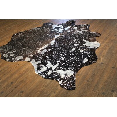 One-of-a-Kind Paramore Hand-Woven Cowhide Silver/Black Area Rug