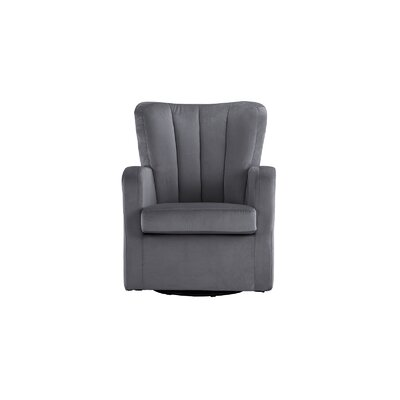 Lucki Modern Swivel Arm Chair Finish: Dark Gray