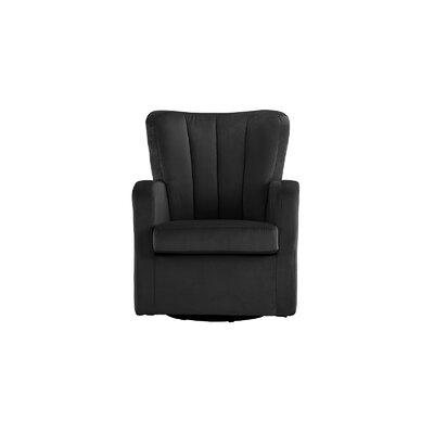 Lucki Modern Swivel Arm Chair Finish: Black
