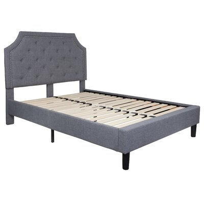 Porath Tufted Upholstered Platform Bed Color: Light Gray, Size: Twin