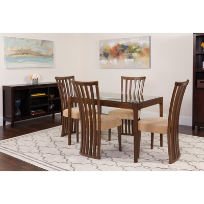 Hurtt 5 Piece Dining Set Color: Walnut