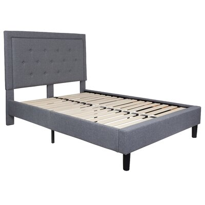 Porcaro Tufted Upholstered Platform Bed Color: Light Gray, Size: Full