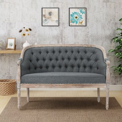 Fincham Loveseat Upholstery: Dark Gray