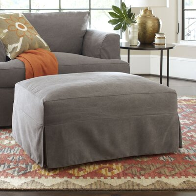Clausen Ottoman Upholstery: Lizzy Graphite