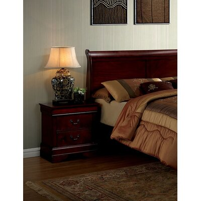 Poulsen 2 Drawer Nightstand Color: Red