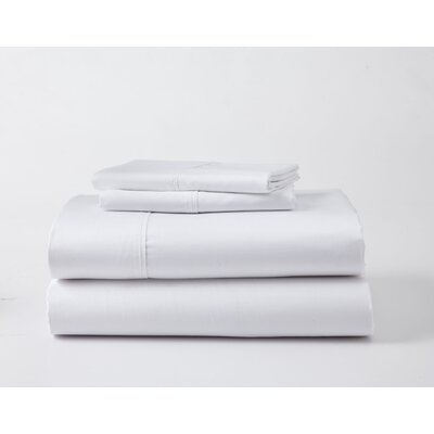 Headen Luxury Performance Sheet Set Color: White, Size: Split King