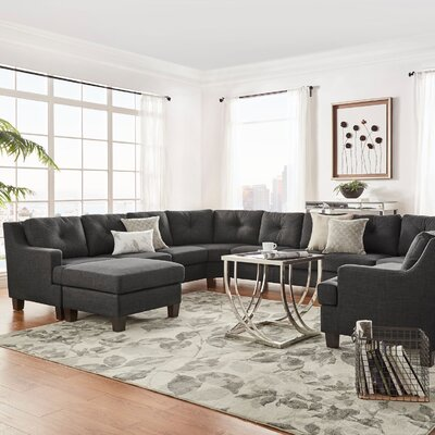 Doane 11 Seat Reversible Sectional with Ottoman