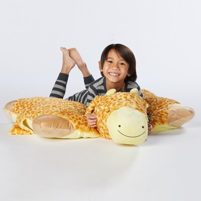 Jumboz Jolly Giraffe Plush Chenille Floor Pillow