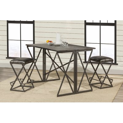 Osterberg 3 Piece Counter Height Breakfast Nook Dining Set