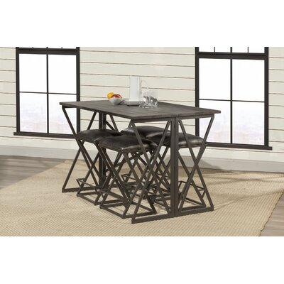 Osterberg 5 Piece Counter Height Breakfast Nook Dining Set