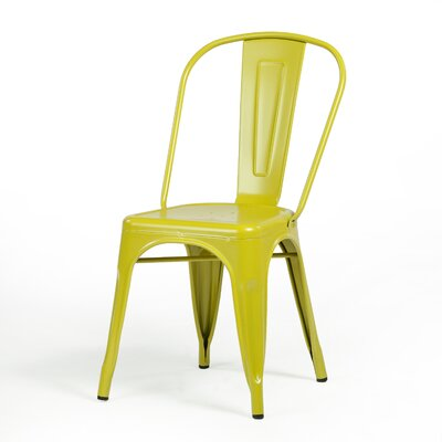 Terri Dining Chair Color: Mustard Green