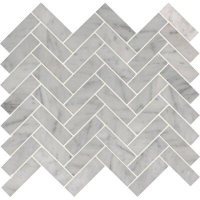 Carrara Herringbone 1x 3 Marble Mosaic Tile in White