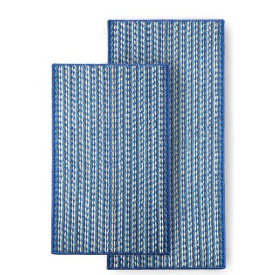 Bhatade 2 Piece Utility Mat Set Color: Blue
