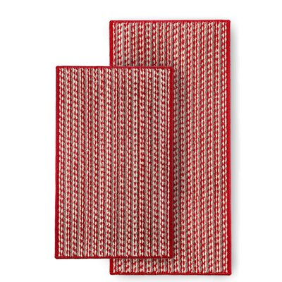 Bhatade 2 Piece Utility Mat Set Color: Red