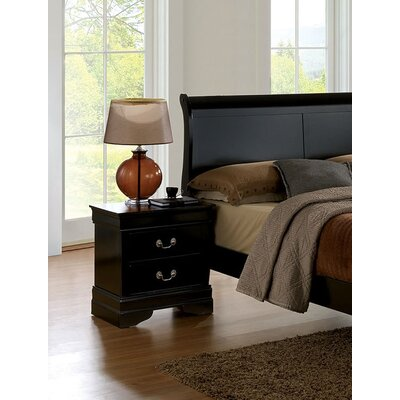Poulsen 2 Drawer Nightstand Color: Black