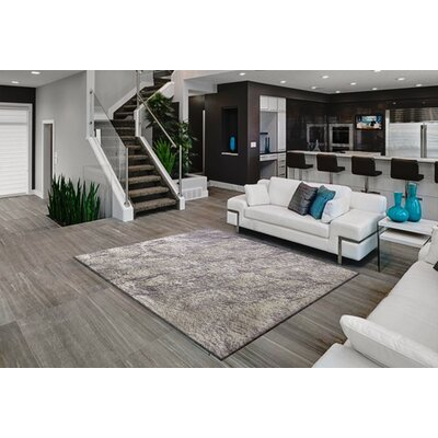 Veals Shag White/Gray Area Rug