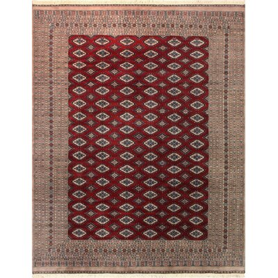 One-of-a-Kind Tanaquil Hand-Knotted Wool Red/Tan Area Rug