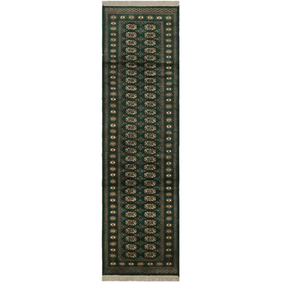One-of-a-Kind Tanaquil Hand-Knotted Wool Green/Ivory Area Rug